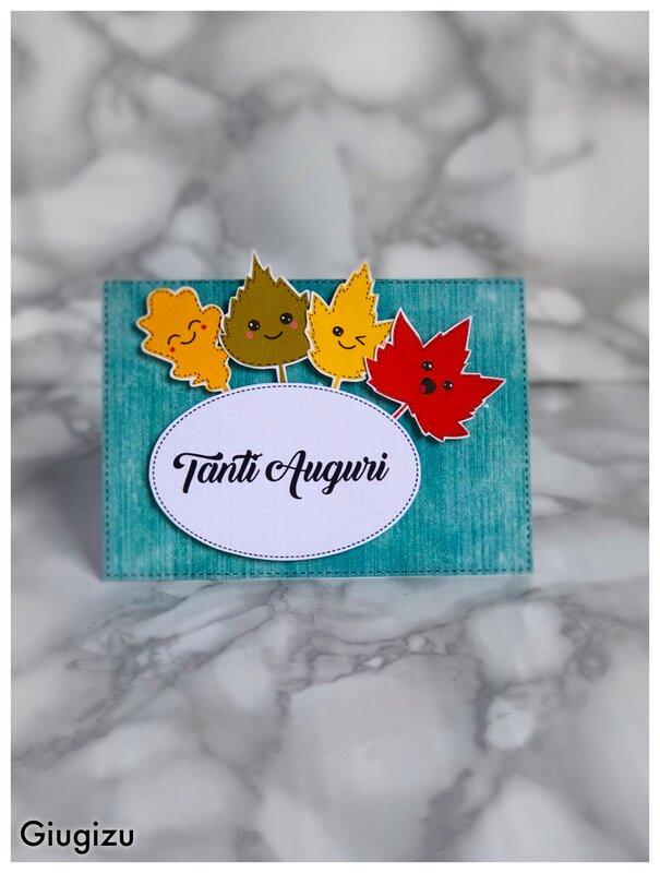 Fall inspired birthday card