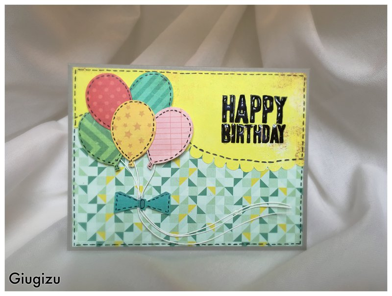 Balloons Scalloppped card