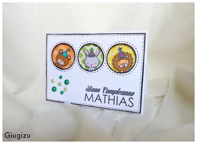 Peek-a-boo toddler birthday card
