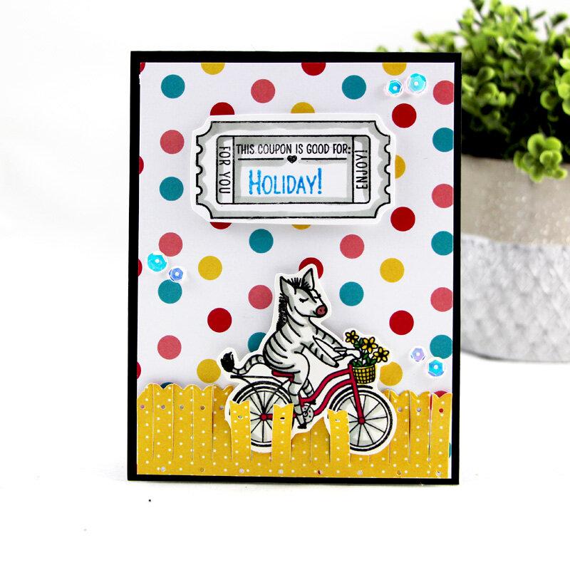 Holiday with a Zebra on a bike!
