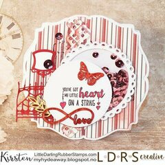 Heart on a string - a shaker card