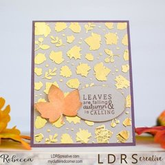 Foil & Stenciling on a Fall card!