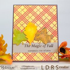 The Magic of Fall reminds me of you (FOIL technique)