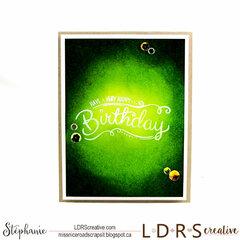 Happy Birthday inking
