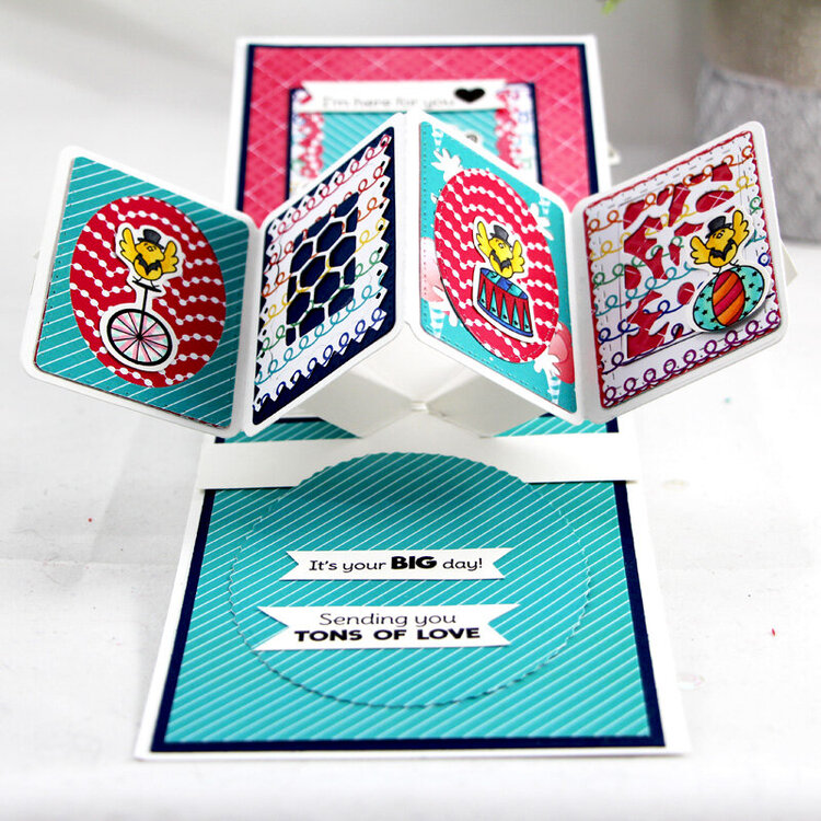 Twirling Pop Up card