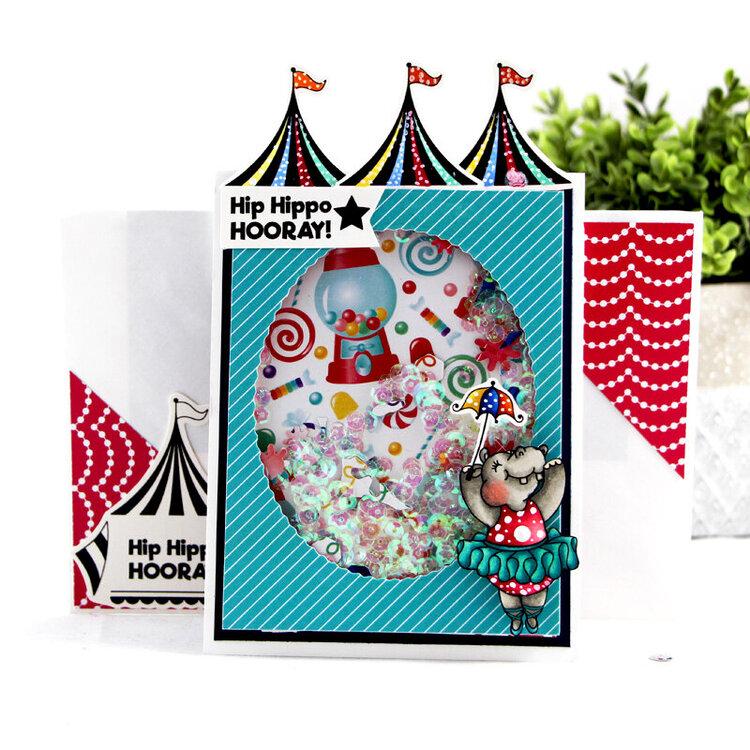 Hip Hippo Hooray Twirling Pop card!