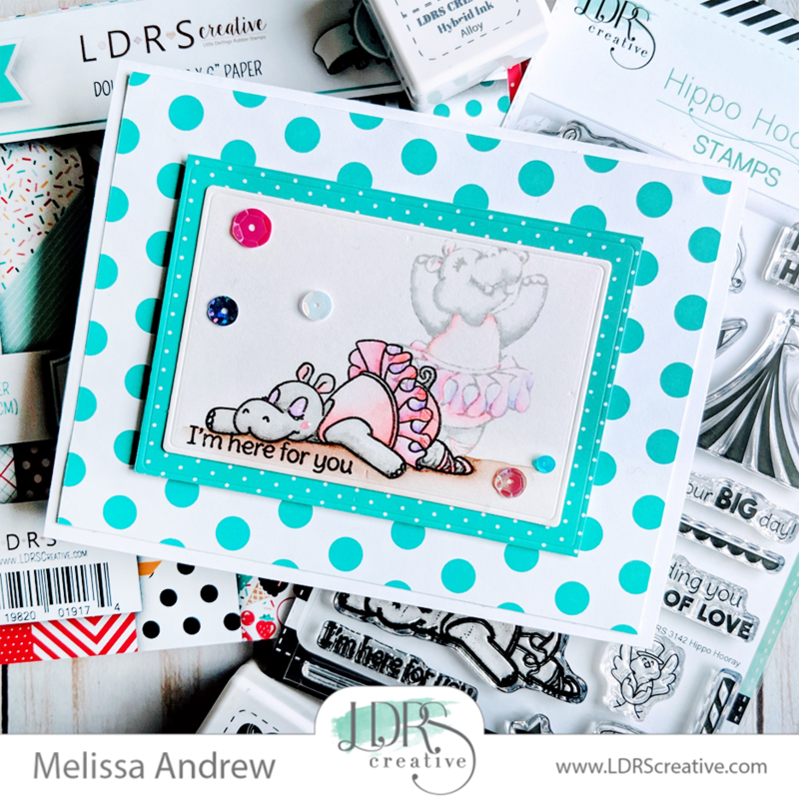 I'm here for you - An Exhausted Hippo card tutorial