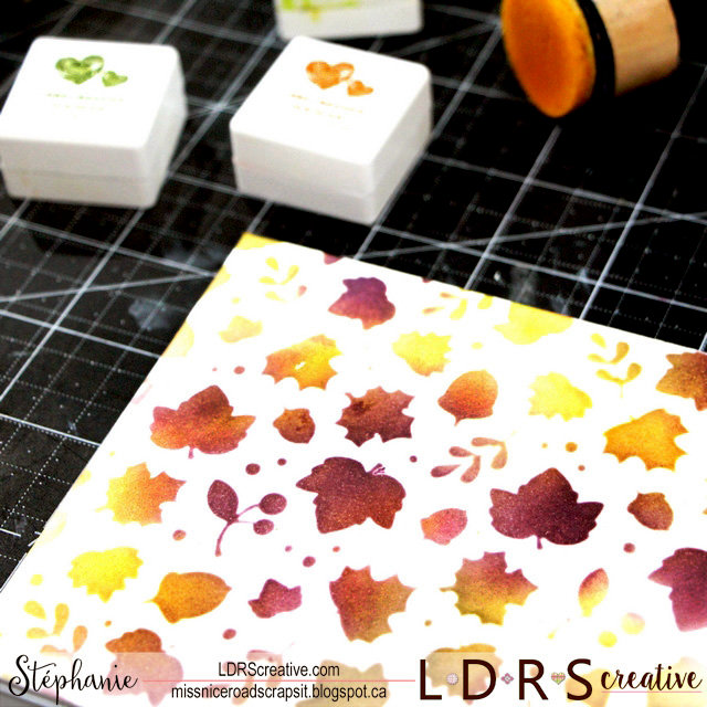 Using LDRS Hybrid inks for stenciling and envelop art mail!