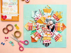 COLORFUL ORIGAMI LAYOUT