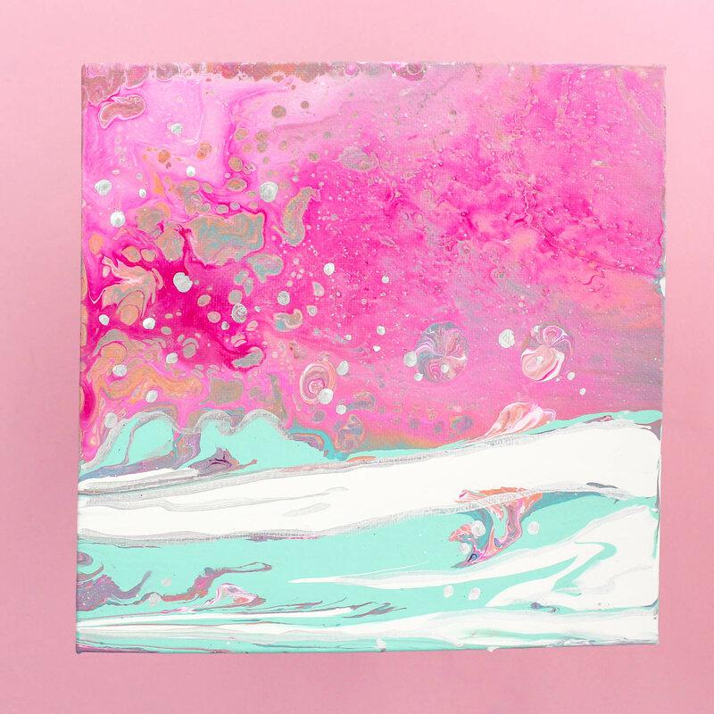 Landscape Color Pour
