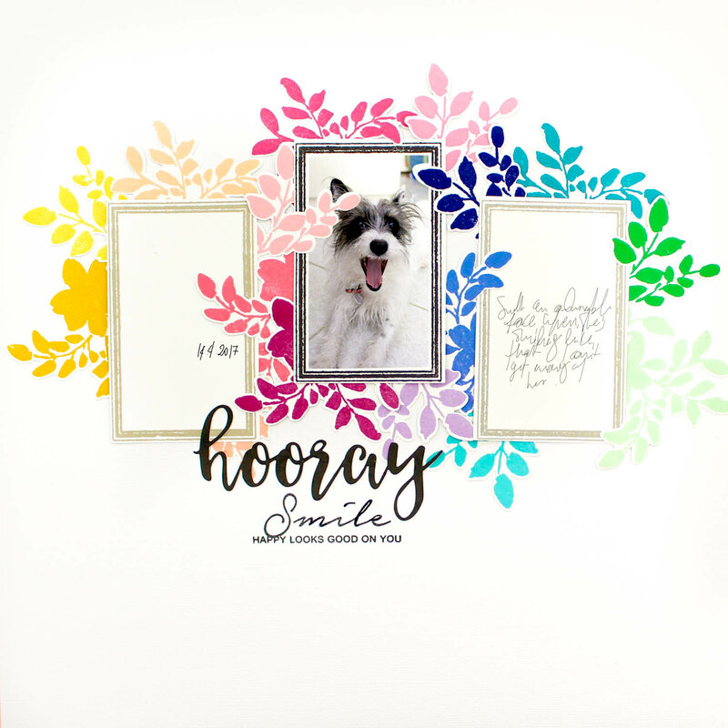 Rainbow Floral Layout