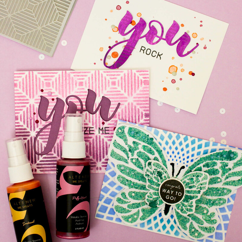 Stenciled Cards