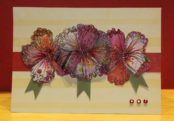 Pattern Paper Challenge--with stamping