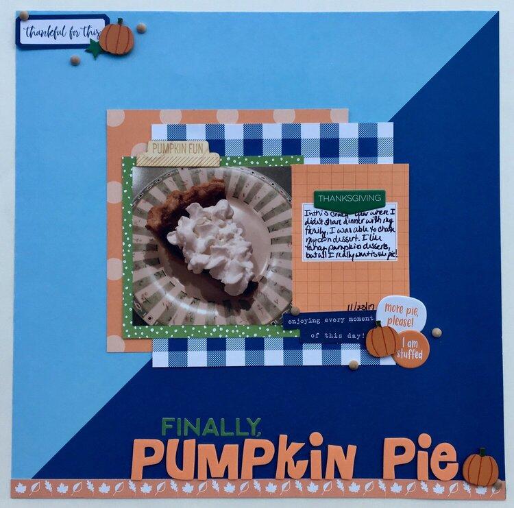 Finally, Pumpkin Pie