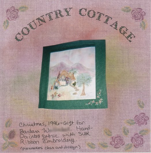 Country Cottage Wallhanging