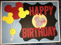 Mickey Mouse Balloons Birthday Card
