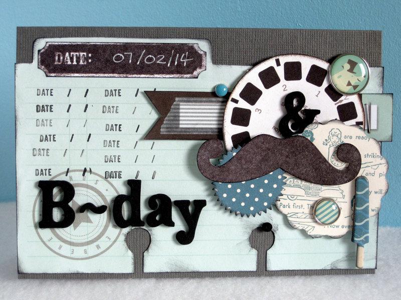 B-Day Ephemera Card