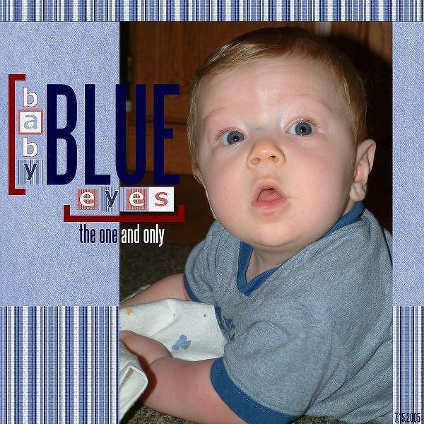 Baby Blue Eyes *New Scrap Kitchen Kit*