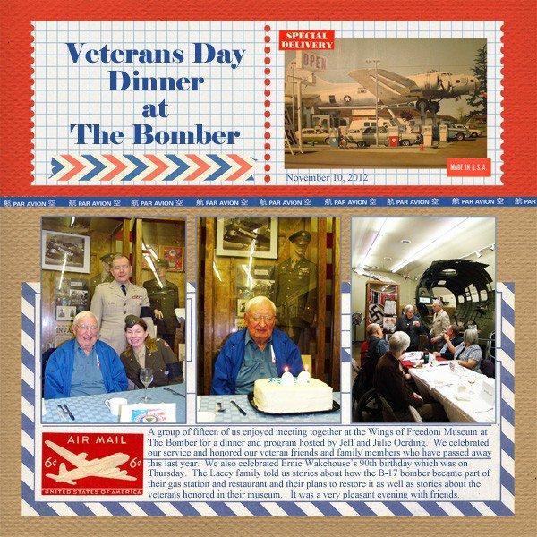 Veterans Day Dinner at The Bomber