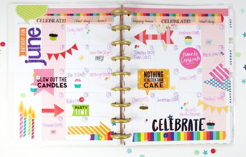 Birthday/Anniversary Planner