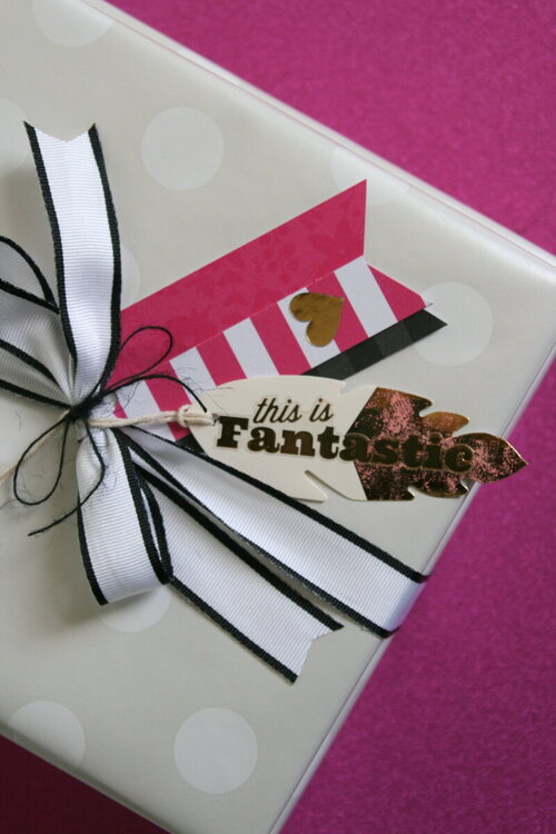 Happy card and gift wrap