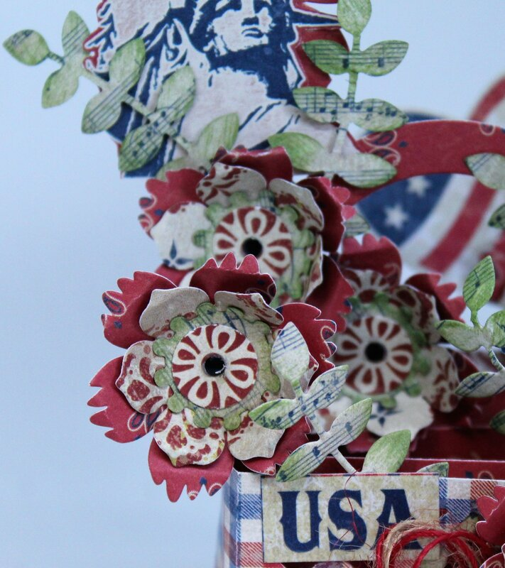 Liberty Card in a Box Flower Basket