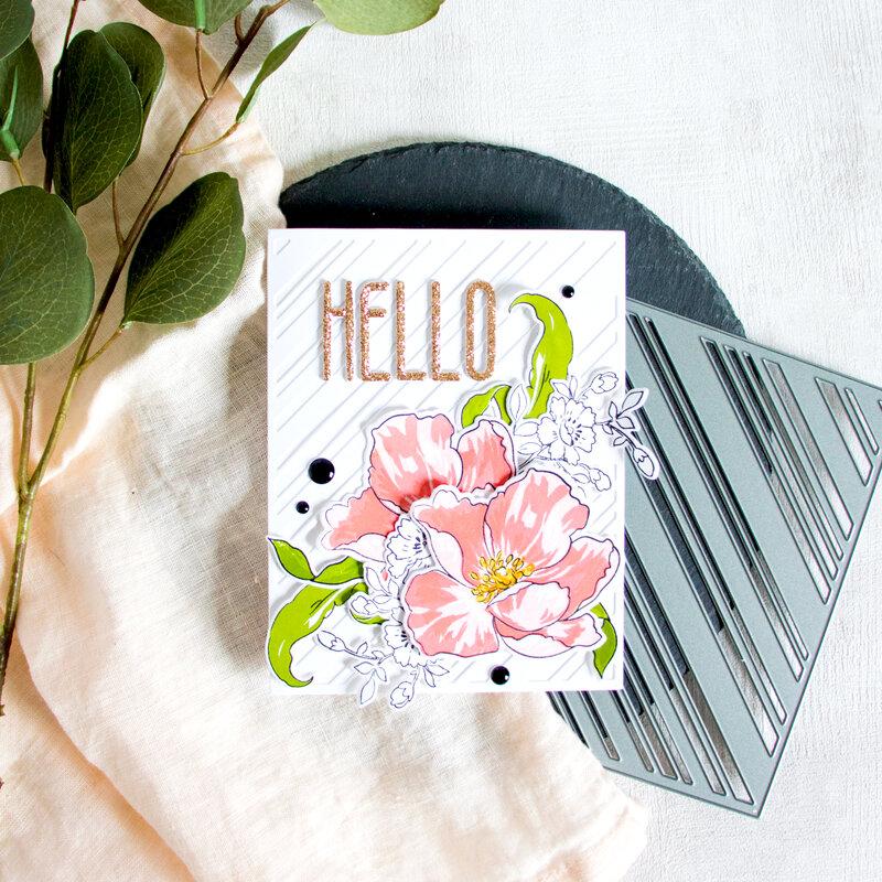 Hello - Altenew October 2019 Stamp & Die Release.