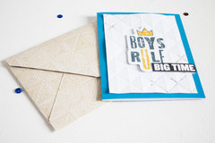 Masculine Cards - Boys Rule.