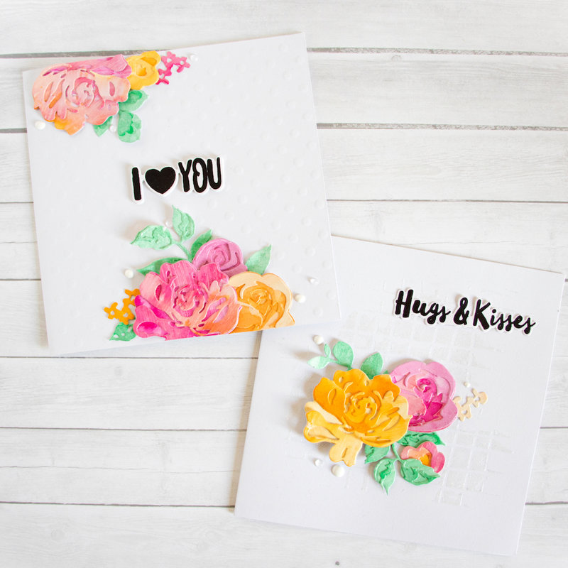Floral Cards. Altenew Stamps & Ink Sprays.