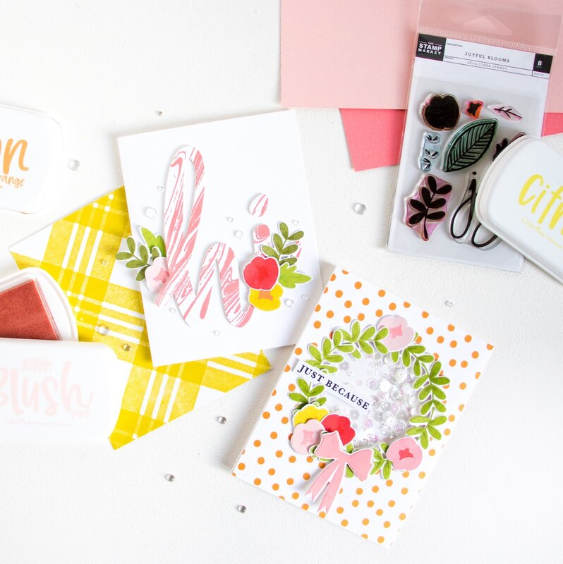 Cards with The Stamp Market Color Crush