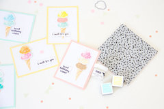 What's the Scoop? - Stamped Icecream Cards.