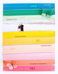 Rainbow Strips Layout with Sweet Story.