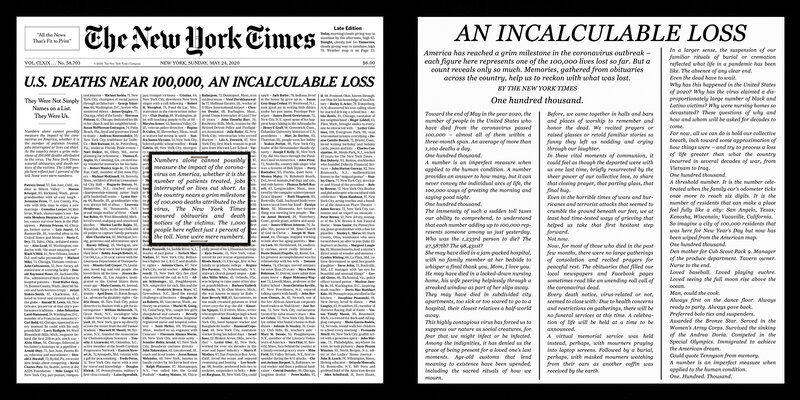 May 2020 - NYT - 100,000