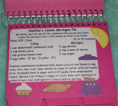 Unfinished Recipe Card Cookbook