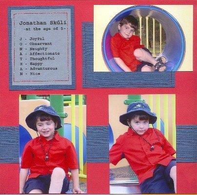 Jonathan - at the age of 5 -