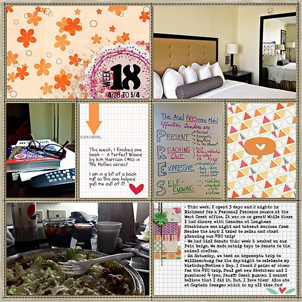 Project Life: Week 18, Page 1