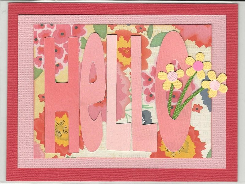 March Acetate Card Class - Card Two= Hello!