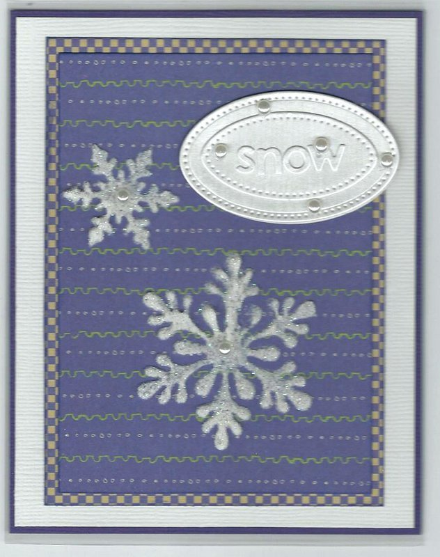 Acetate Stenciled Snowflake Card
