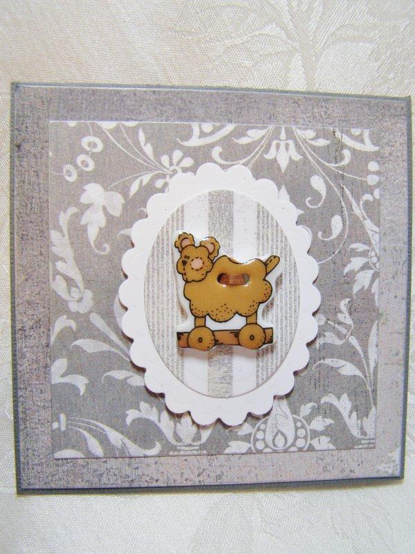 Ceramic Button Dog Notecard