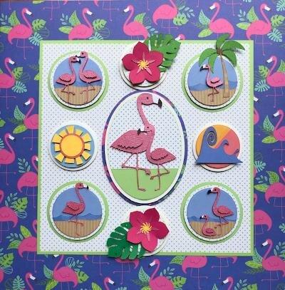 The July Sampler Class Theme:  Flamingo Island