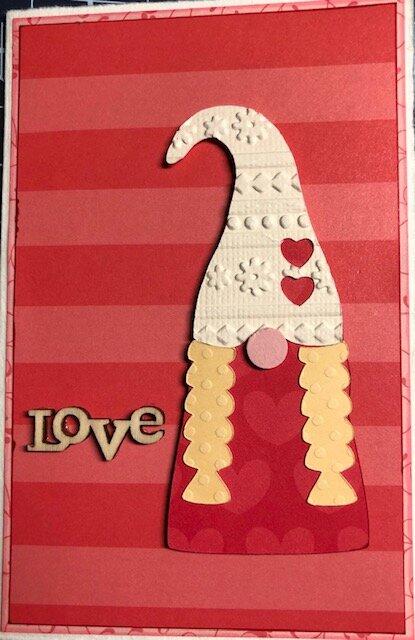 Valentine Gnome Girl Card