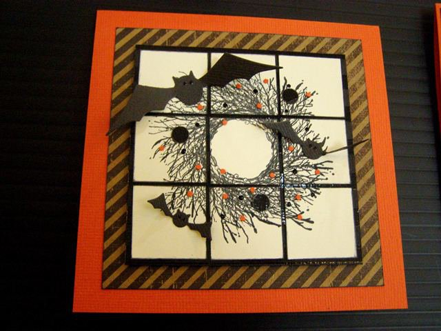 Halloween Wreath....Inchies Card