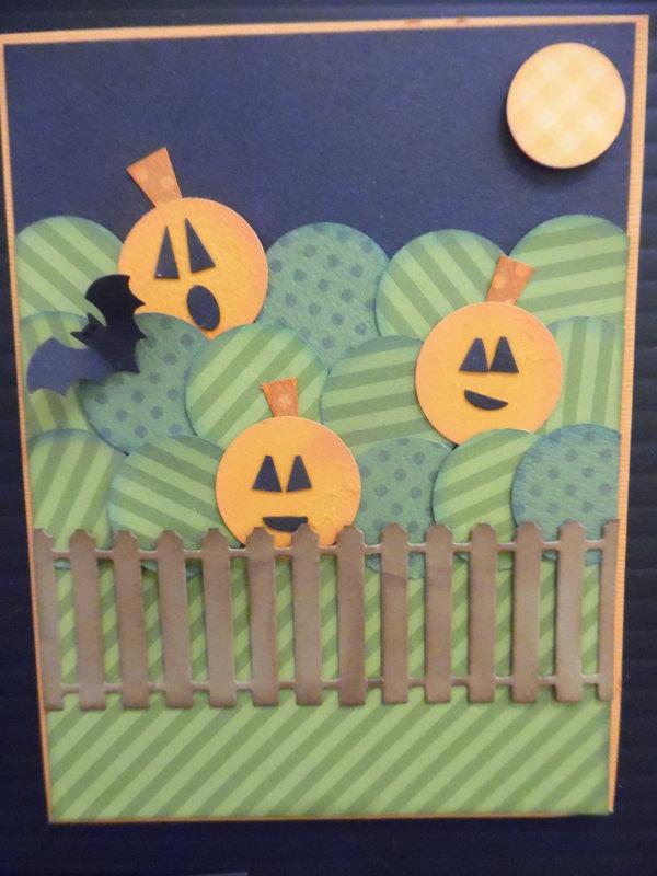 Pumpkin Field Inchies Card