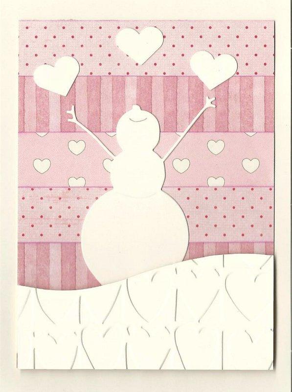 Valentine Joyful Snowman