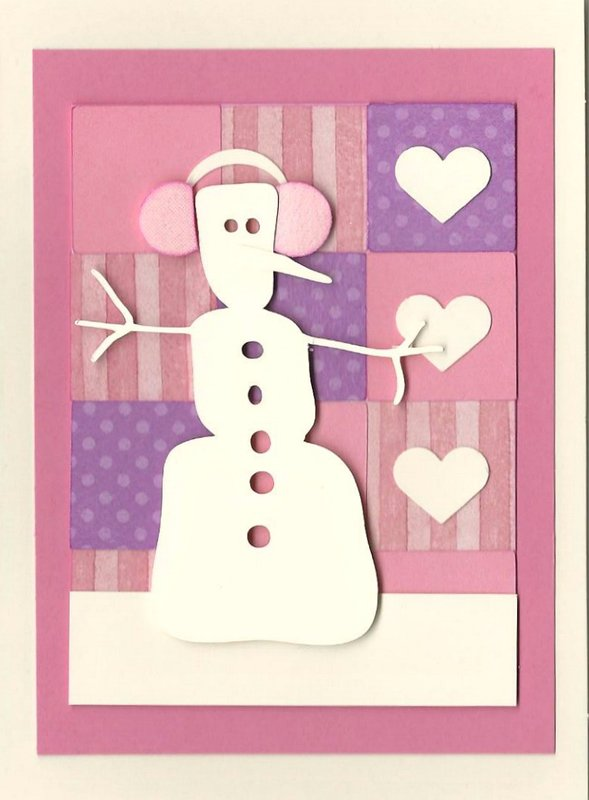 Another Snowman Inchie Card for Valentine's Day