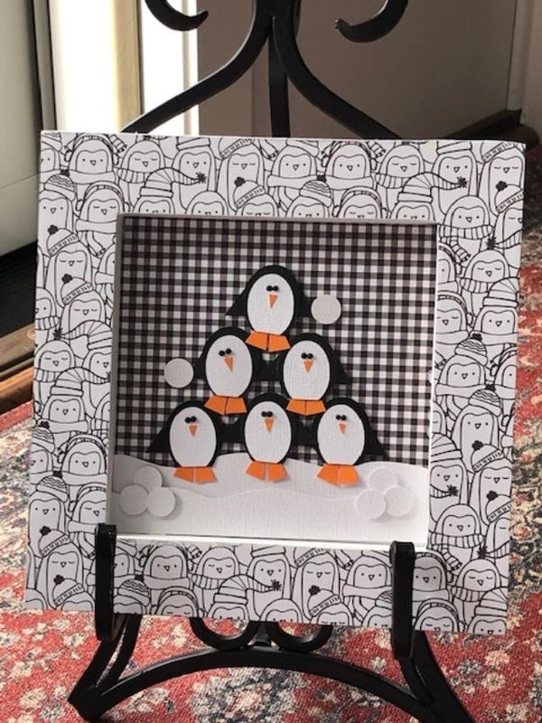 8x8 Penguin Plaque