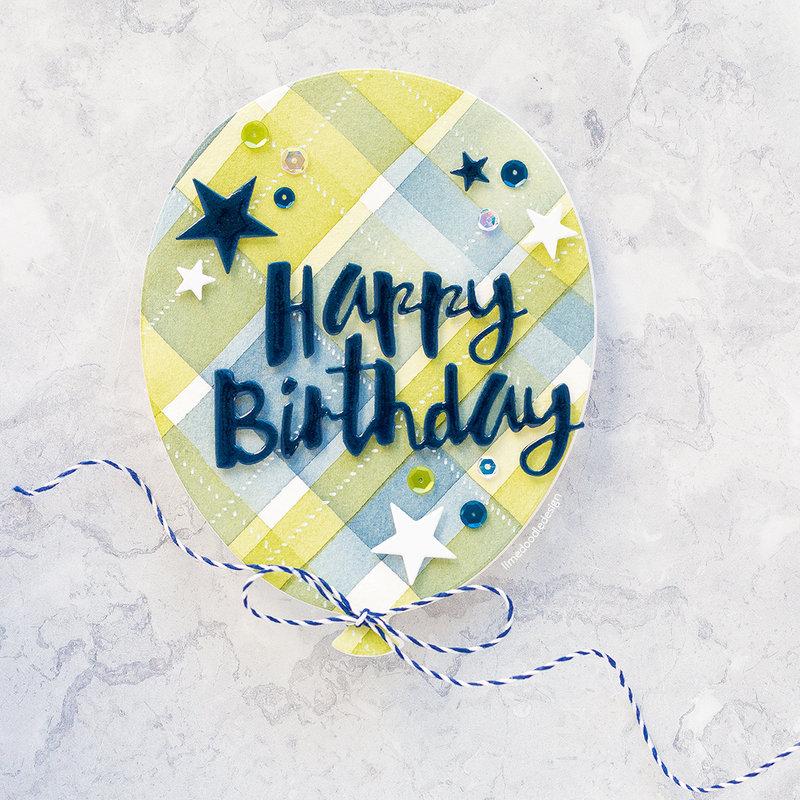 Watercoloured Plaid Balloon