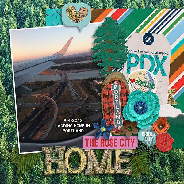 Flying home to Portland Oregon