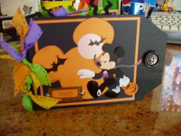 Disney Autograph Tag Album 4 Halloween