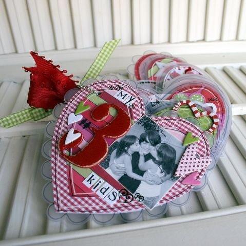 Maya Road Sneak Peek~ Heart Scallop Sheer Mini Book~